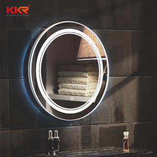 LED ronde vorm Sanitair Defogg Bathroom Vanity Mirror KKR-8013